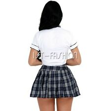 New School Girl Costume Halloween Hens Party Dress Outfit Ladies Sexy Nightwear