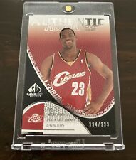 2003-04 UPPER DECK SP GAME USED LeBron James Rookie /999 Exquisite Card Miscut?