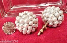 "NEW 6 Pearl Bling 1 3/4""  Ball Knobs Pull Handle Cabinet Retro Hardware Drawer"