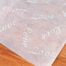 100 Ft LOVE Wedding AISLE RUNNER Long White Print Decor