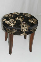 English Regency Style Maple Circular Bench with Tufted Seat Circa 1920's