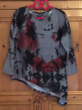 Twisted Muse Sz Small 8 10 Abstract Twilight Multi Print 'Gracy' TOP Asymmetric
