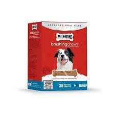 Milk-Bone Brushing Chews Dog Treats Small/Medium 22 Ounce (28 B... Free Shipping