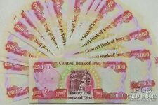 1 Million Dinars 40 Notes 25000 Dinars Central Bank of Iraq Currency Notes 19371