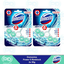Domestos Power 5 with Bleach Toilet Rim Block 55g 2, 3 Or 6 Pack