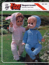 """VINTAGE KNITTING PATTERN COPY TO KNIT 18-20 """" DOLL OUTFIT - 8 PLY YARN"""