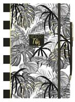 A5 Tropical Leaf Note Book With Pen & Holder Lined Paper Pad Journal PNPF