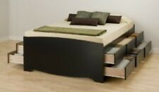 Prepac Full-Double 12 drawer Tall Platform Storage Bed in Black BBD-5612-K New
