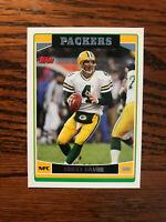 2006 Topps #200 Brett Favre Football Card Green Bay Packers HOF NFL Raw