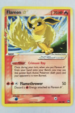 Pokemon Flareon Gold Star HOLO Ex Power Keepers 100/108 Moderate Play