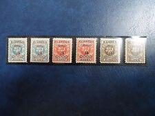 Stamps, Memel-Klaipeda, Sc#N12-N17, Mlh