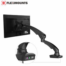 "Black LCD Arm Desktop Monitor Mount Computer Stand for 17 19 21"" 22"" 24"" Screen"