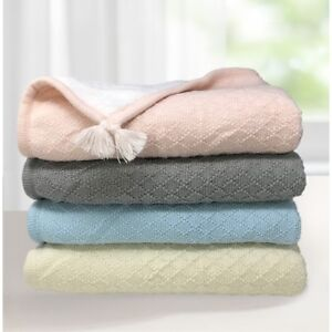 effe bebe Knoten Cable Knit Sherpa Baby Blanket