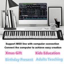 61 Key USB MIDI Flexible Roll Up Electronic Piano Music Keyboard Kids Educate CO