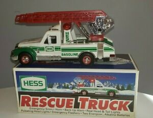 1994 Vintage Hess Toy Rescue Truck In Original Box