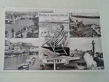 WHITBY Vintage Real Photo Multi-View Postcard Franked & Stamped 1960 §B160