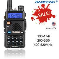 BAOFENG UV-5R Ⅲ LCD 5W Tri Band Walkie Talkie CTCSS VOX Long Range Two Way Radio