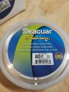 Seaguar Premier Fluorocarbon leader 80 pound 25 yard tuna live bait igfa rated
