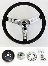 """1970-1977 Fury Scamp Duster Cuda GTX Road Runner Black Steering wheel 13 1/2"""""""