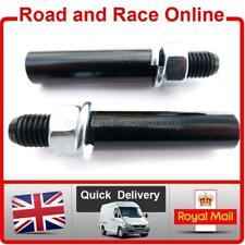 Pair Motorcycle Mirror Extenders-Riser-Extension Tubes Black Steel 10mm Fixing