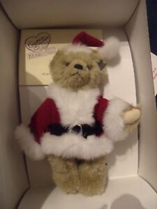 """Annette Funicello Bear Guisseppe Santa 11"""" Limited Edition Mohair Bear"""