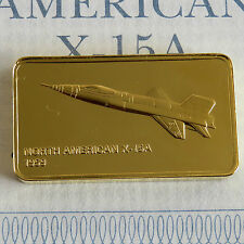 North American X-15A Oro Placcato prova LINGOTTO-Jane 's medallic registro