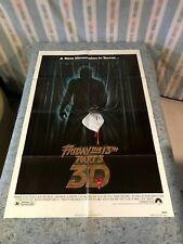 """Friday The 13th Part 3 - 3D 1982 Original 1 Sheet Movie Poster 27"""" x 41"""" (F)"""