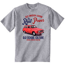 VINTAGE SWEDISH CAR SAAB 95 - NEW COTTON T-SHIRT