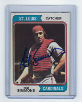 1974 CARDINALS Ted Simmons signed card Topps #260 AUTO Autograhed St. Louis HOF