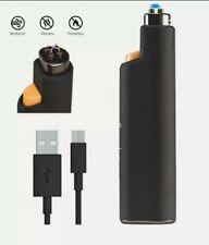 More details for power practical flip electric lighter rechargeable flameless plasma arc lighter