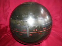 "HOKUSHIN GYROSPHERE 7"" w/ WOOD CASE - for MAIN GYRO COMPASS - YOKOGAWA JAPAN vtg"