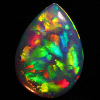 8x6 MM PEAR TOP SUPER RAINBOW ELECTRIC ETHIOPIAN FIRE WELO OPAL WHOLESALE PRICE