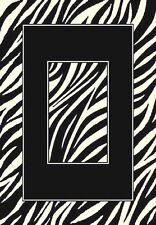 5x7 Area Rug Zebra Skin Wild Animal Kingdom Safari Zebra with Black Border New