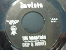 Skip & Johnny ~ The Marathon /More Marathon 45 Rare Kim Fowley Invicta 1000