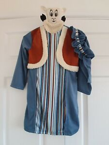 Child's Nativity Shepherd's Costume Outfit Age 5-6 with hat and sheep puppet