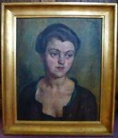 Antique Portrait Framed Oil Painting 1921 Karl Oertal signed Art 1920s