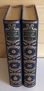 2 Volumes Tomes Livres La Pérousse Voyage autour Du Monde de Jean De Bonnot