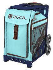 Zuca Bag Calypso Insert & Navy Blue Frame w/Flashing Wheels - Free Seat Cushion