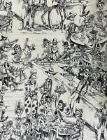 1 Yard DEADWOOD SALOON Alexander Henry Cotton Fabric Dia de los Muertos
