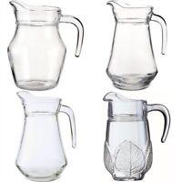 Luminarc 0.5L/1L/1.3L Classic Aspen Jug Clear Glass Pitcher Water Juice Milk Jar