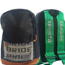 JDM Brride Takkta Racing Backpack Harness Shoulder Straps Laptop School Bag