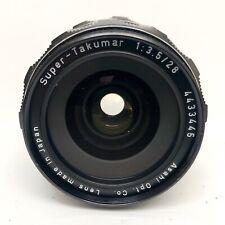 MINT Pentax SMC Super-Multi-Coated Takumar 28mm f/3.5 M42 Lens