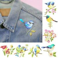 1X Flower Craft Sewing Embroidered Sew/Iron On Applique Patch Birds Hot A5U9