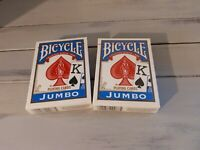 Bicycle Jumbo Playing Cards/ Lot Of 2/ New and Sealed