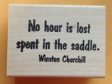 Mounted Rubber Stamps, Western, Equestrian, Horses, Winston Churchill Quotes