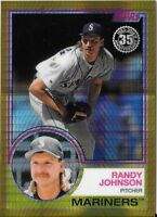 RANDY JOHNSON 2018 Topps Update SILVER PACK 1983 GOLD REFRACTOR /50 MARINERS 137