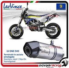Leovince LV ONE acier Pot D'Echappement Husqvarna 701 Supermoto 2015>2017