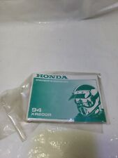 Honda 1994 XR200R Original Factory Owners Manual - New Old Stock NOS