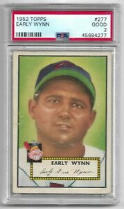 1952 Topps Early Wynn PSA 2 Good