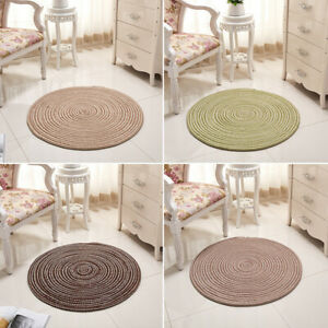 Round Weave Carpet Chair Mat Sofa Table Seat Mat For Living Room Bedroom Decor